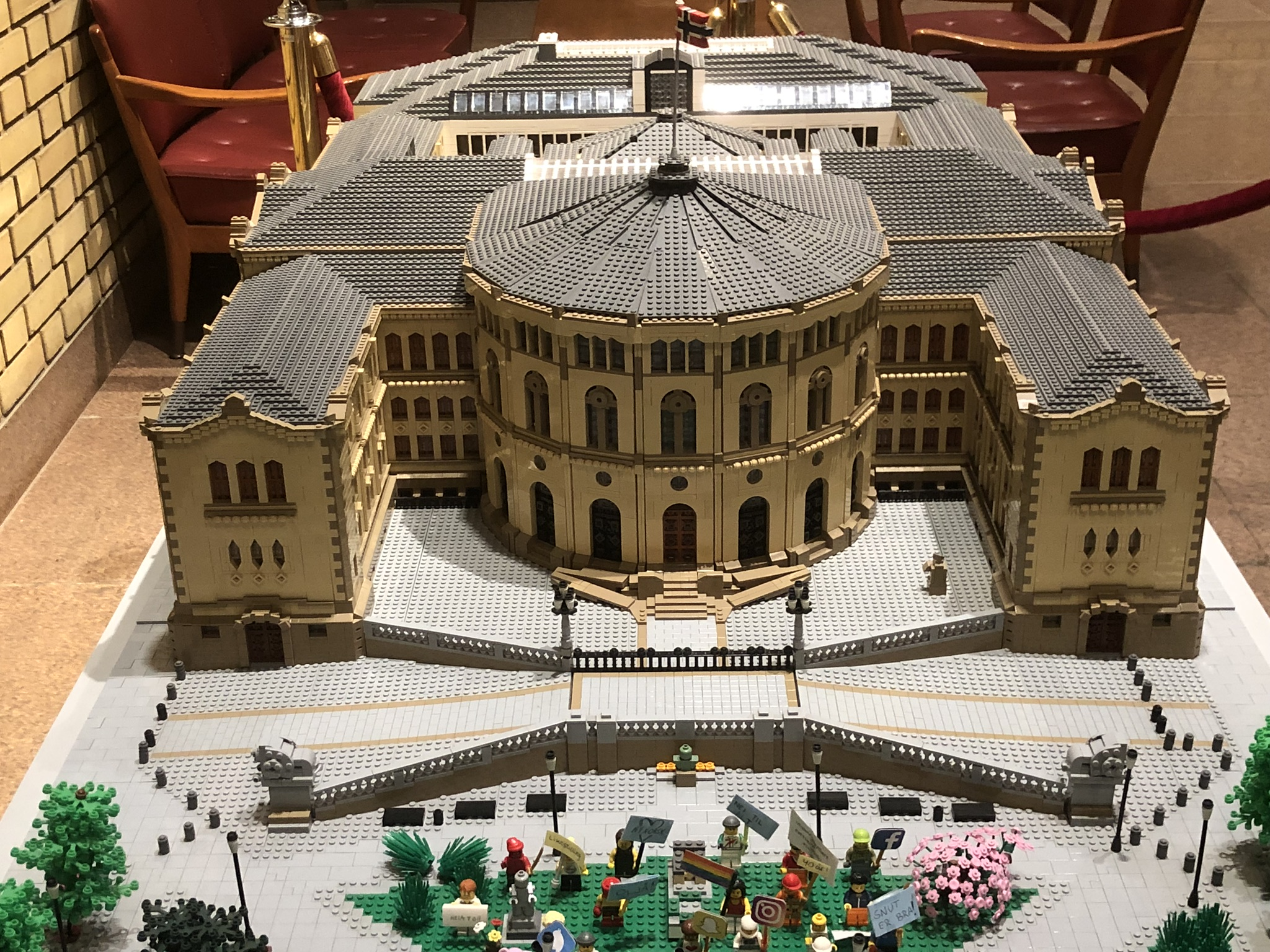 The Norwegian parliament in LEGO
